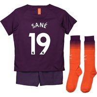 Manchester City Third Stadium Kit 2018-19 - Little Kids with Sané 19 printing