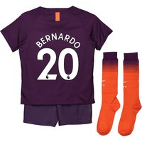 Manchester City Third Stadium Kit 2018-19 - Little Kids with Bernardo 20 printing