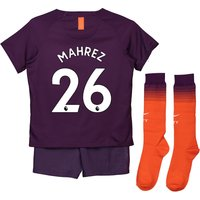 Manchester City Third Stadium Kit 2018-19 - Little Kids with Mahrez 26 printing
