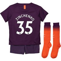 Manchester City Third Stadium Kit 2018-19 - Little Kids with Zinchenko 35 printing