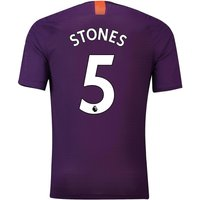 Manchester City Third Vapor Match Shirt 2018-19 with Stones 5 printing