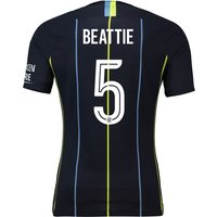 Manchester City Away Cup Vapor Match Shirt 2018-19 with Beattie 5 printing