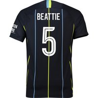 Manchester City Away Cup Stadium Shirt 2018-19 with Beattie 5 printing