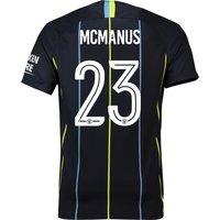 Manchester City Away Cup Stadium Shirt 2018-19 with McManus 23 printing