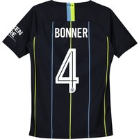 Manchester City Away Cup Stadium Shirt 2018-19 - Kids with Bonner 4 printing