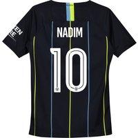 Manchester City Away Cup Stadium Shirt 2018-19 - Kids with Nadim 10 printing
