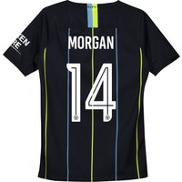 Manchester City Away Cup Stadium Shirt 2018-19 - Kids with Morgan 14 printing