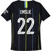 Manchester City Away Cup Stadium Shirt 2018-19 - Kids with Emslie 22 printing