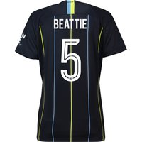 Manchester City Away Cup Stadium Shirt 2018-19 - Womens with Beattie 5 printing