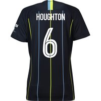 Manchester City Away Cup Stadium Shirt 2018-19 - Womens with Houghton 6 printing