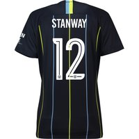 Manchester City Away Cup Stadium Shirt 2018-19 - Womens with Stanway 12 printing
