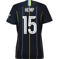 Manchester City Away Cup Stadium Shirt 2018-19 - Womens with Hemp 15 printing