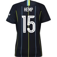 Manchester City Away Cup Stadium Shirt 2018-19 - Womens with Hemp 15 printing