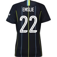 Manchester City Away Cup Stadium Shirt 2018-19 - Womens with Emslie 22 printing