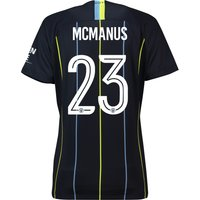 Manchester City Away Cup Stadium Shirt 2018-19 - Womens with McManus 23 printing