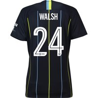 Manchester City Away Cup Stadium Shirt 2018-19 - Womens with Walsh 24 printing