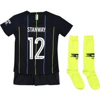 Manchester City Away Cup Stadium Kit 2018-19 - Little Kids with Stanway 12 printing