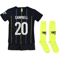 Manchester City Away Cup Stadium Kit 2018-19 - Little Kids with Campbell 20 printing