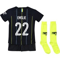 Manchester City Away Cup Stadium Kit 2018-19 - Little Kids with Emslie 22 printing