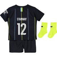 Manchester City Away Cup Stadium Kit 2018-19 - Infants with Stanway 12 printing