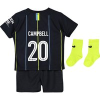 Manchester City Away Cup Stadium Kit 2018-19 - Infants with Campbell 20 printing