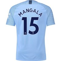 Manchester City Home Vapor Match Shirt 2018-19 with Mangala 15 printing