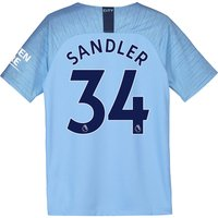 Manchester City Home Stadium Shirt 2018-19 - Kids with Sandler 34 printing