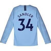 Manchester City Home Stadium Shirt 2018-19 - Long Sleeve - Kids with Sandler 34 printing