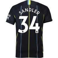 Manchester City Away Stadium Shirt 2018-19 with Sandler 34 printing