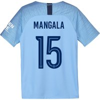 Manchester City Home Cup Stadium Shirt 2018-19 - Kids with Mangala 15 printing