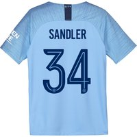 Manchester City Home Cup Stadium Shirt 2018-19 - Kids with Sandler 34 printing