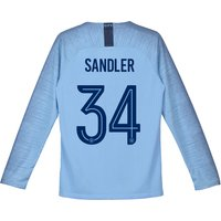 Manchester City Home Cup Stadium Shirt 2018-19 - Long Sleeve - Kids with Sandler 34 printing
