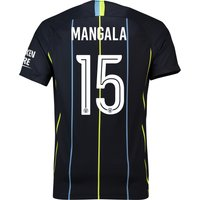 Manchester City Away Cup Stadium Shirt 2018-19 with Mangala 15 printing