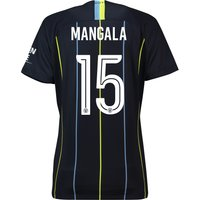 Manchester City Away Cup Stadium Shirt 2018-19 - Womens with Mangala 15 printing