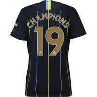 Manchester City Away Stadium Shirt 2018-19 - Womens with Champions 19 printing