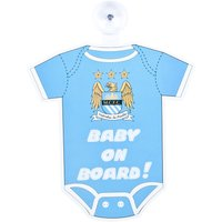 Manchester City Baby Onesie Onboard Sign