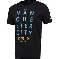 Manchester City Core Type T-Shirt Black