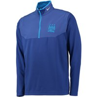 Manchester City Dry-Fit 1/2 Zip Top Royal Blue