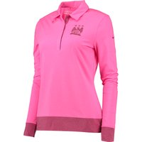 Manchester City Colourblock Polo - Long Sleeve - Womens Pink