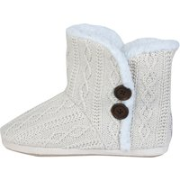 Manchester City Boot Slipper - Cream - Womens