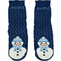 Manchester City Christmas Socks - Navy - Older