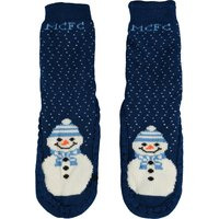 Manchester City Christmas Socks - navy- Womens