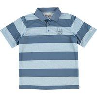 Manchester City Bold Stripe Polo - Kids Blue