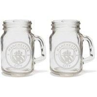 Manchester City Mason Jar Shot Glasses - 2 Pack