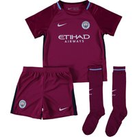Manchester City Away Stadium Kit 2017-18 - Little Kids