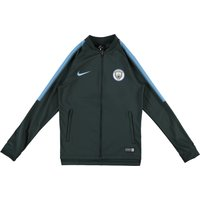 Manchester City Squad Knit Tracksuit - Green - Kids