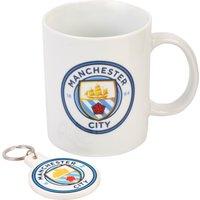 Manchester City Mug and Keyring Gift Set