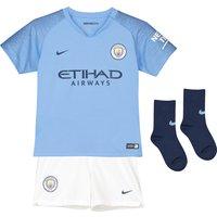 Manchester City Home Stadium Kit 2018-19 - Little Kids