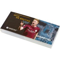 Manchester City 2017-18 Champions Kevin De Bruyne Goal Flip Book