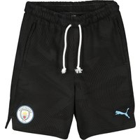 Manchester City Casuals Sweat Shorts - Black - Kids